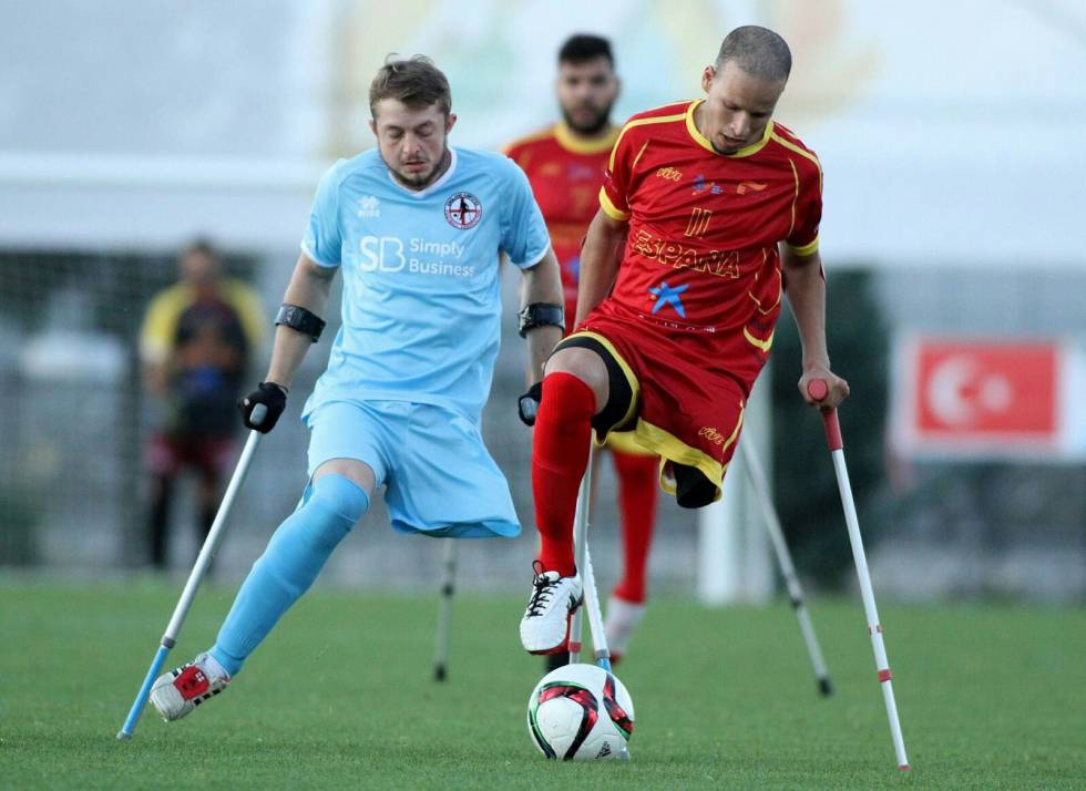 Ihab Ettalib durante un partido de la Selección Española de Amputados.