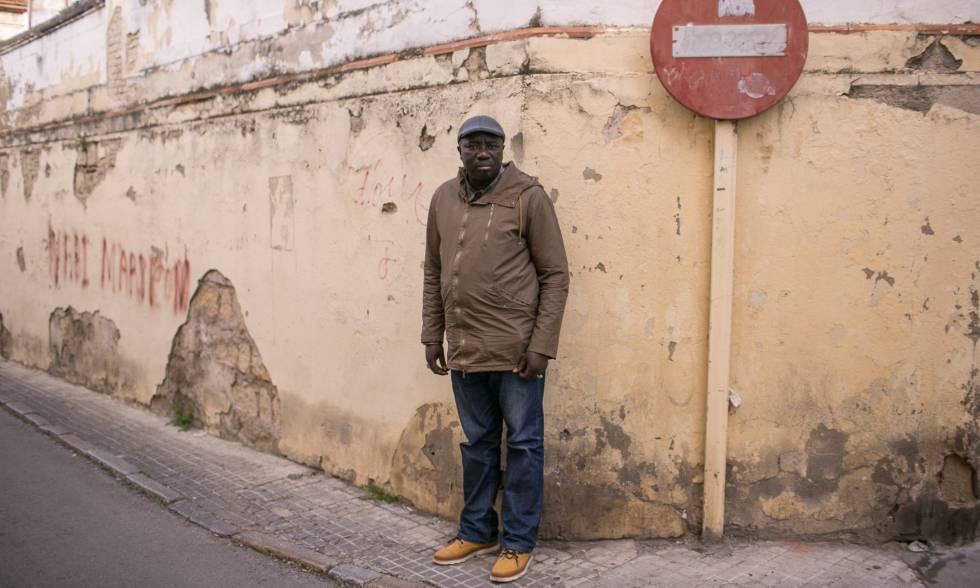 Yoro en una calle de Jerez de la Frontera.
