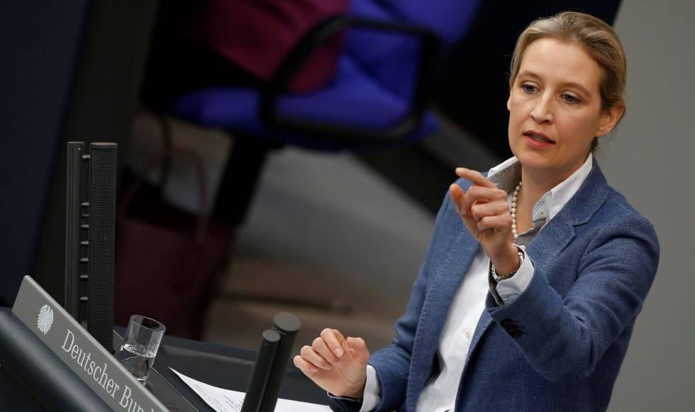 Alice Weidel en el Bundestag, en Berlin, el 22 de febrero.