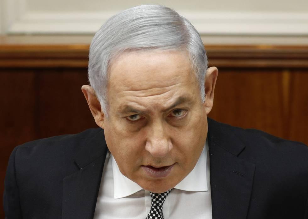 El primer ministro israelí, Benjamin Netanyahu, en una reunión ministerial.