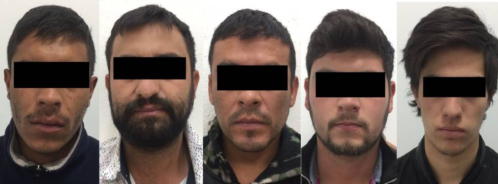Los detenidos por secuestro.