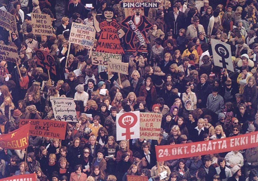 Manifestación por el 'día libre de las mujeres'.