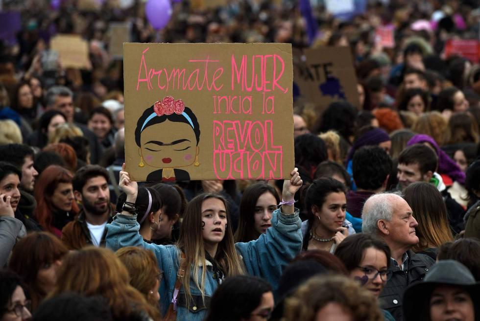 Manifestação desta quinta-feira na Cidade do México.