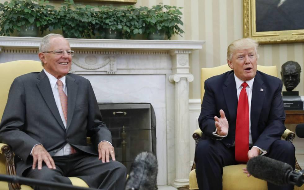Los presidentes Pedro Pablo Kuczynski y Donald Trump, en febrero de 2017 en la Casa Blanca