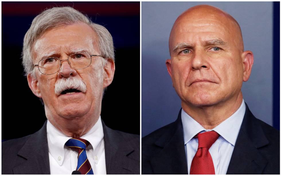 John Bolton (izquierda) y H.R. McMaster.