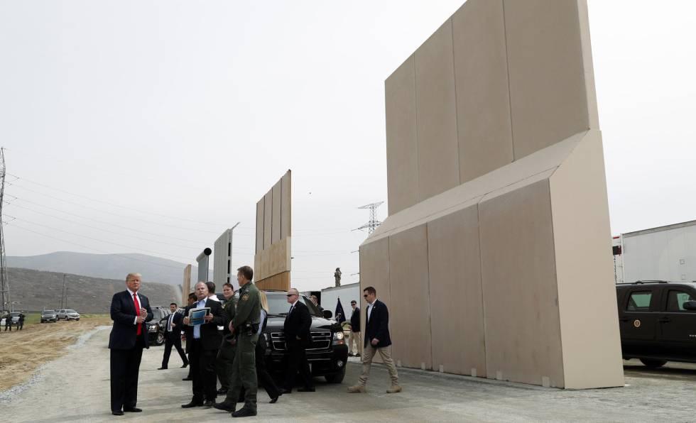 Donald Trump, en la frontera entre EE UU y México el 13 de marzo de 2018.