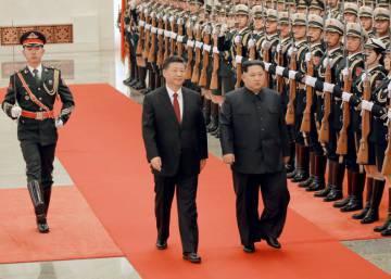 La visita secreta de Kim Jong-un a Pekín, en imágenes
