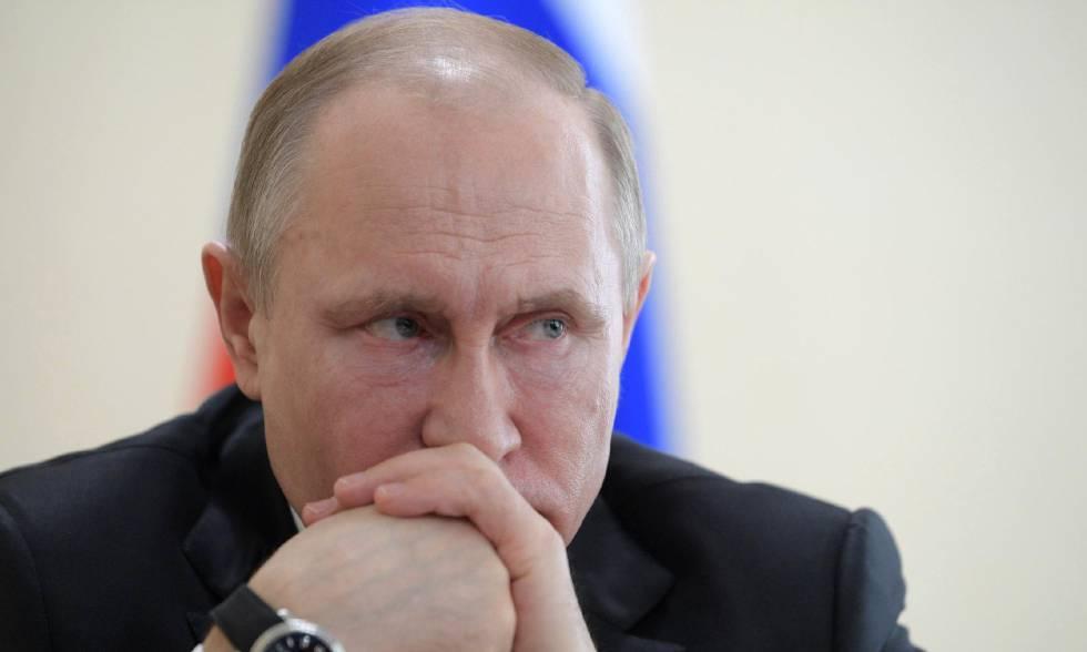 El presidente ruso, Vladímir Putin, el 27 de marzo de 2018.