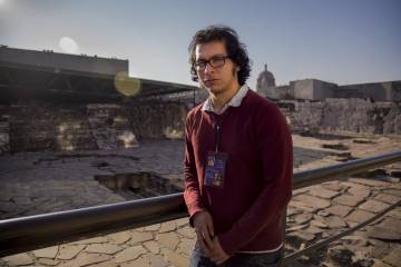 El arqueólogo Israel Elizalde.