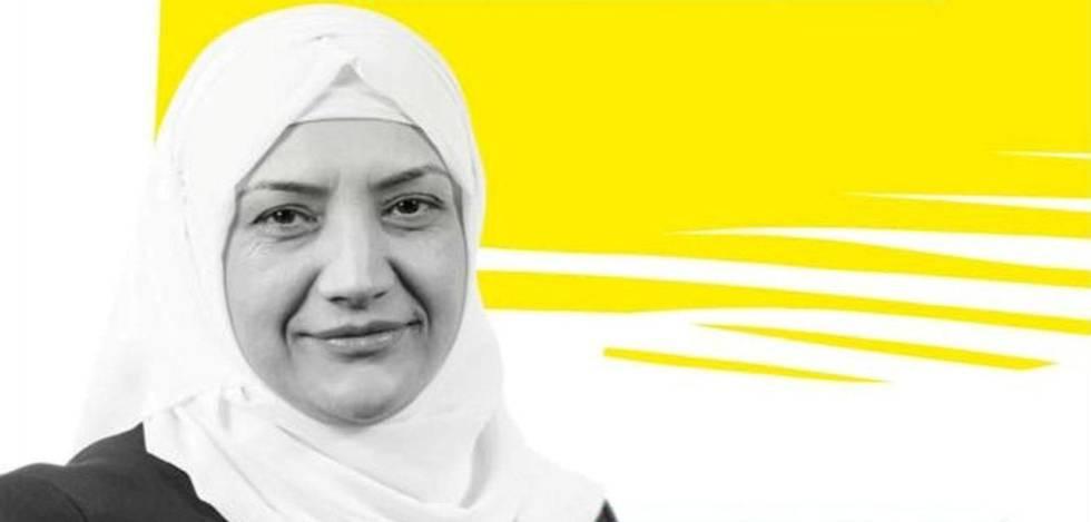 La candidata alemana Aygül Kilic, en un cartel electoral