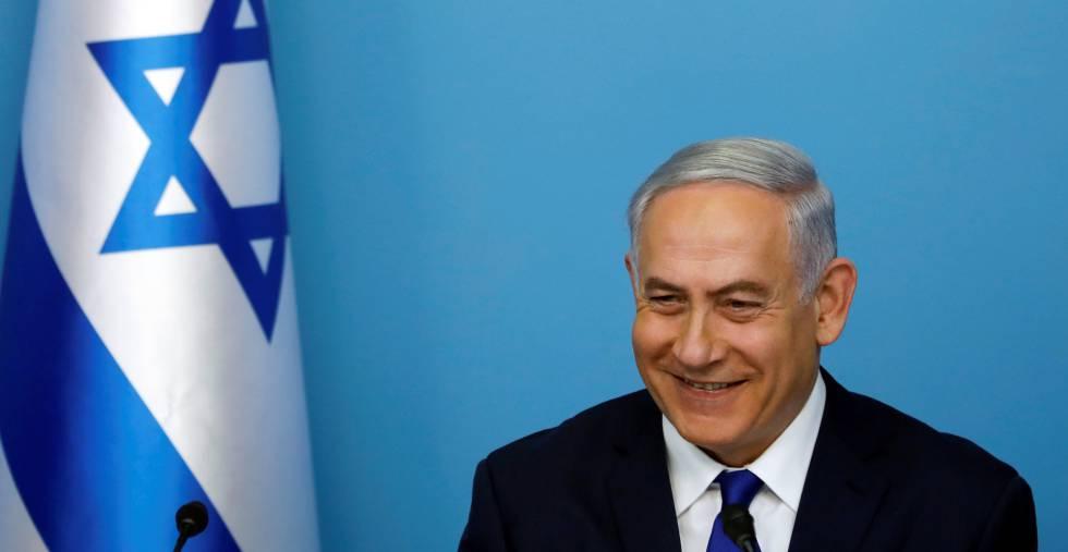 El primer ministro israelí, Benjamín Netanyahu, este lunes en Jerusalén.