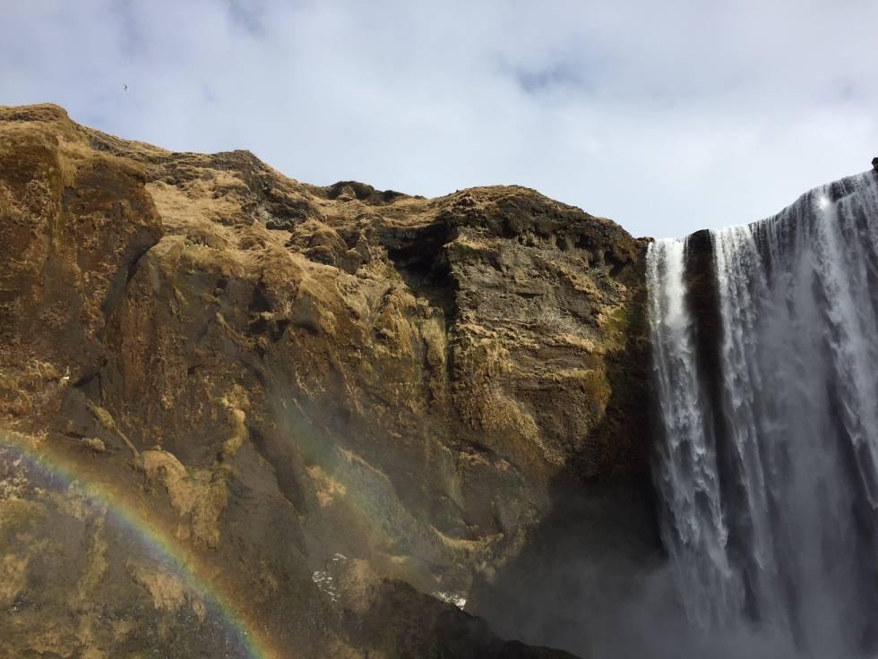 La cascada de Skógafoss.