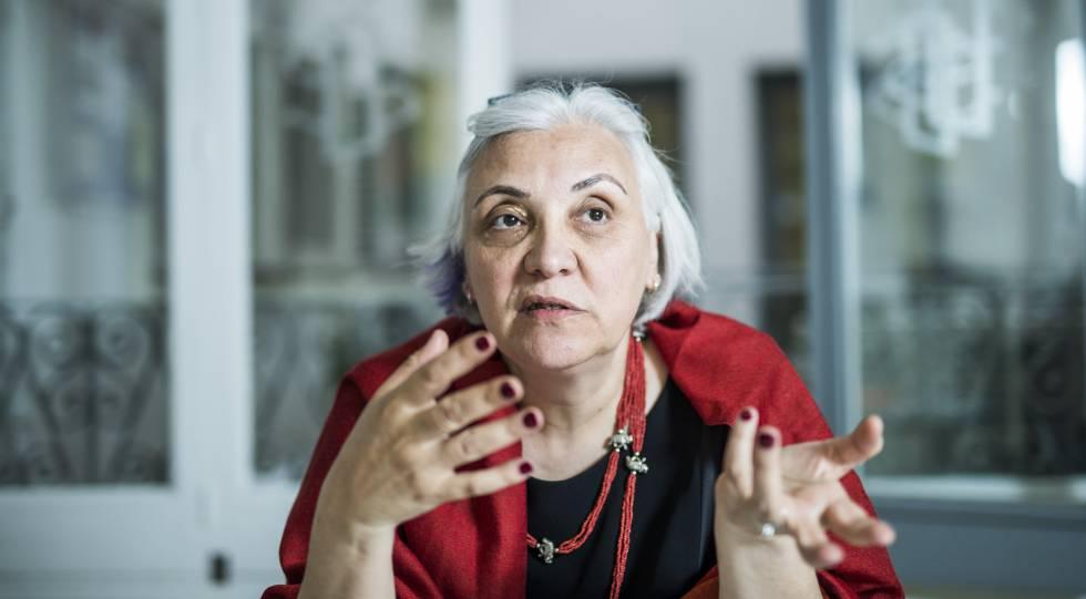 Idil Eser, directora de Amnistía Internacional en Turquía, durante la entrevista de este lunes en Madrid.