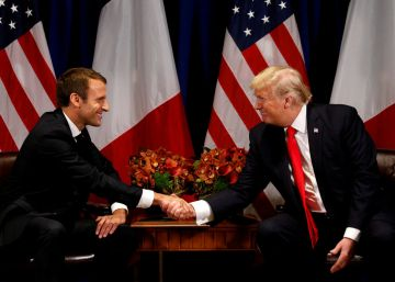 Macron exhibe en Washington su relación privilegiada con Trump