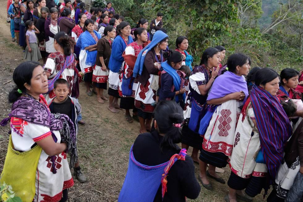 Desplazados indígenas en Chiapas en diciembre de 2017.