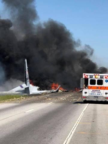 El avión accidentado en Georgia.