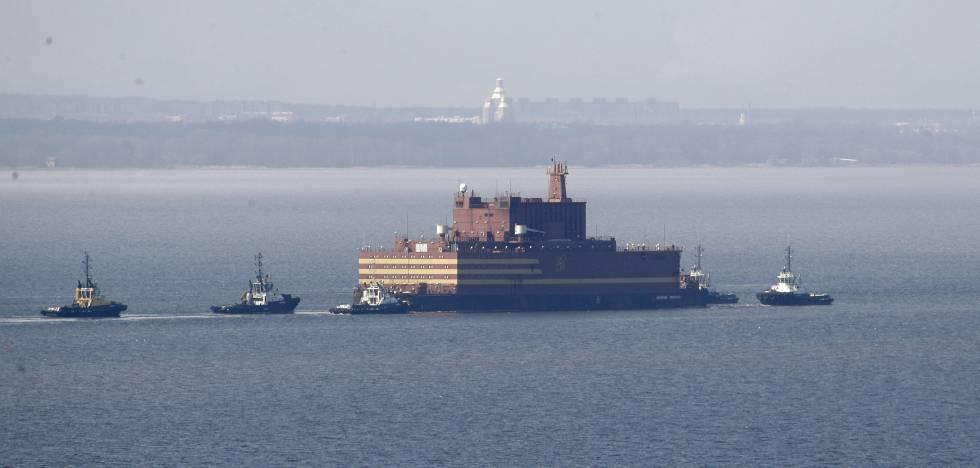 La central nuclear flotante 'Académico Lomonósov'.