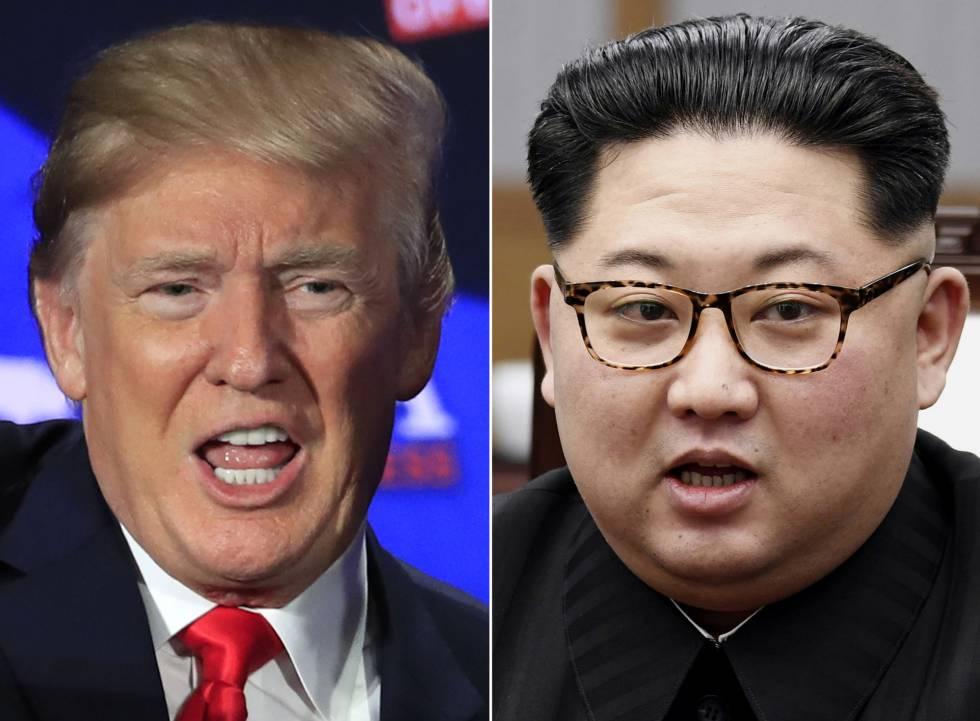 Donald Trump y Kim Jong Un en imágenes de archivo.