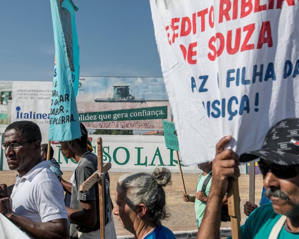 Comunidades rurales se manifiestan contra los abusos de 'fazendeiros' y la industria agropecuaria en Balsas