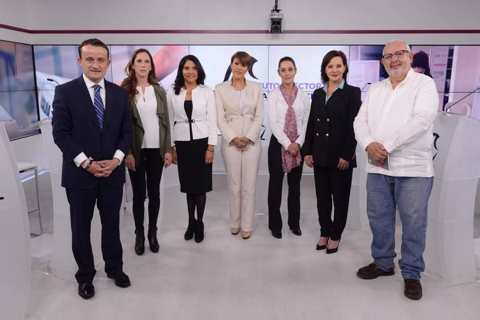 Los Siete Candidatos A La Jefatura De Gobierno De La Ciudad De Mexico En El Primer