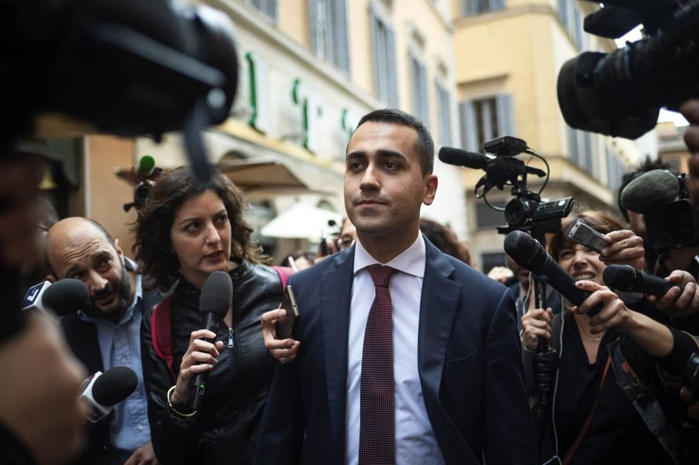 Luigi Di Maio, líder del Movimiento 5 Estrellas, ayer en Roma.