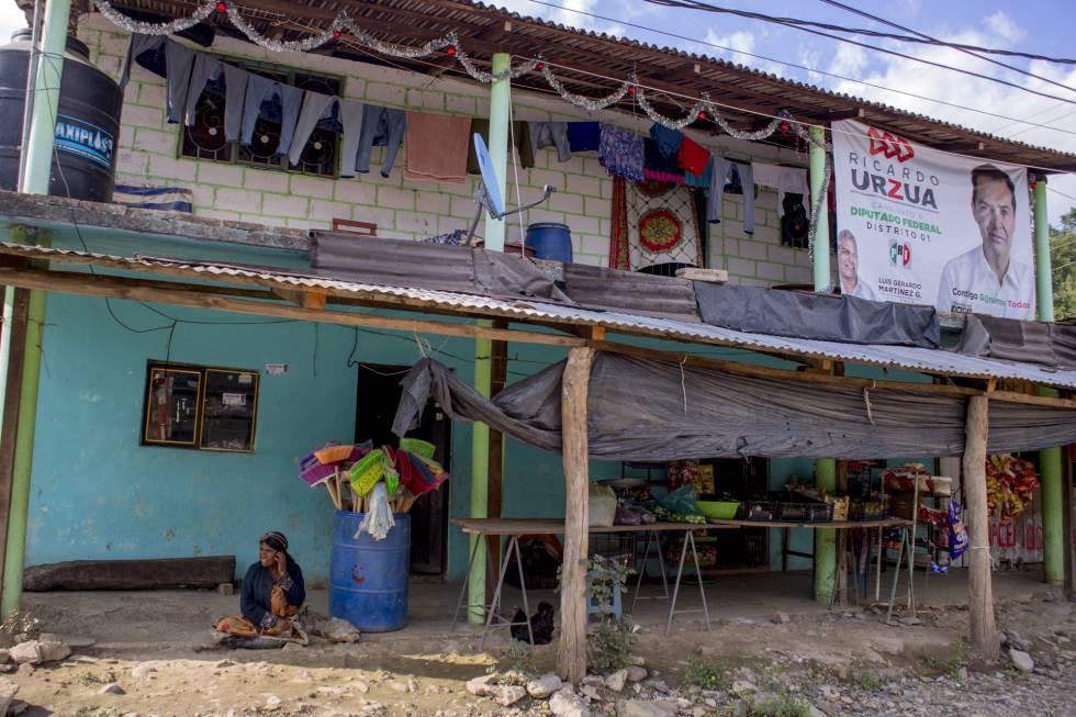 La casa y la tienda de Cecilia Peña, en Chicahuaxtla.