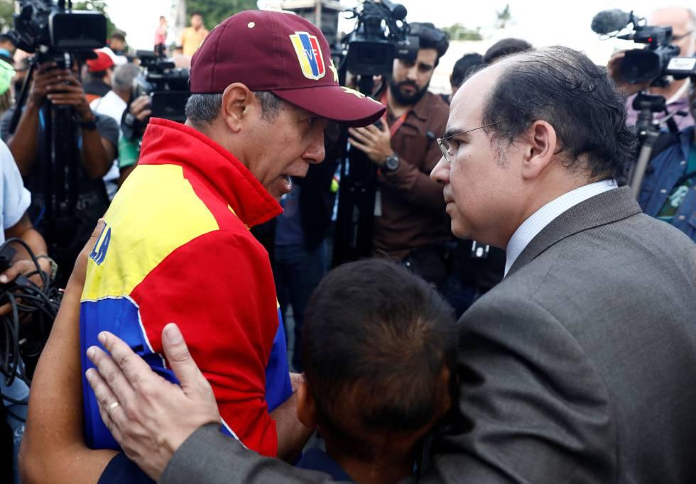 Francisco Rodriguez junto a Henri Falcón.