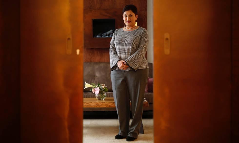 La exfiscal general de Guatemala Thelma Aldana este lunes en Madrid.