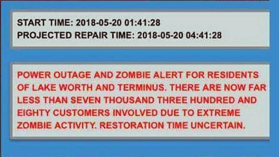Este es el texto del mensaje recibido por los habitantes de Lake Worth.