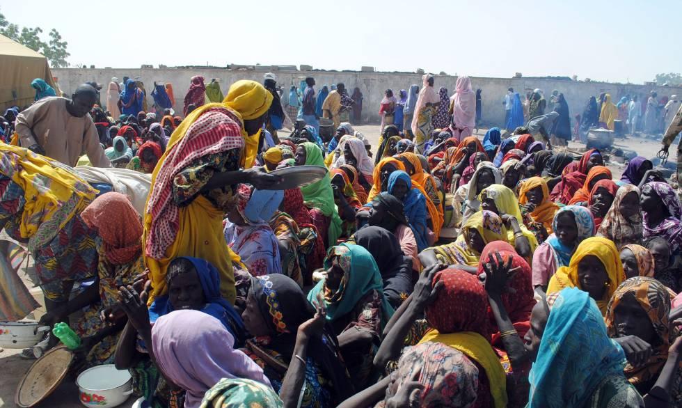 Desplazado en el Estado del Borno, Nigeria.rn rn