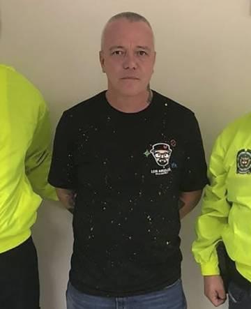 Momento de la detención de alias 'Popeye' en Medellín, Colombia.rn rn