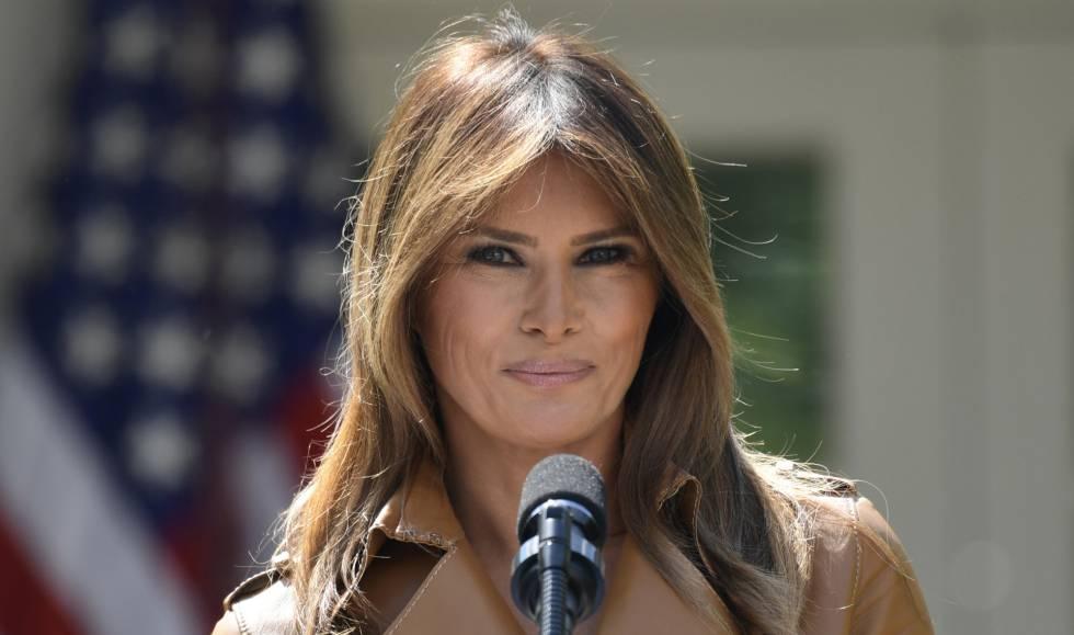 Melania Trump, el 7 de mayo, en su último gran acto público en la Casa Blanca