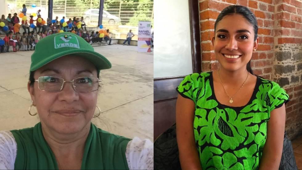 Juana Iraís Maldonado y Pamela Terán, las dos candidatas asesinadas en México.