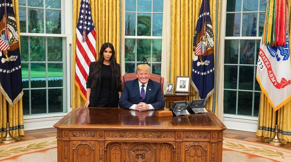 Trump, la semana pasada en la Casa Blanca con Kim Kardashian