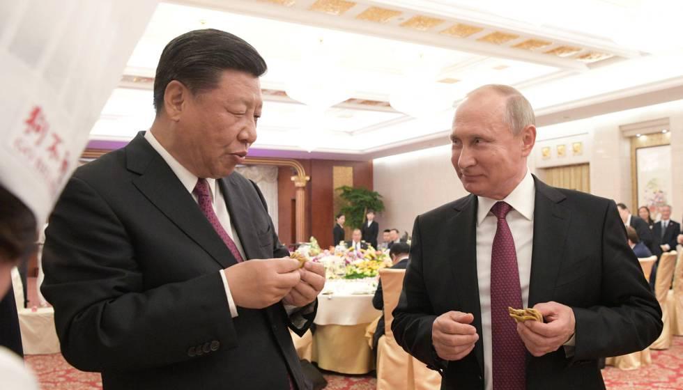 Xi y Putin exhiben su amistad frente a las divisiones en la cumbre del G7 |  Internacional | EL PAÍS
