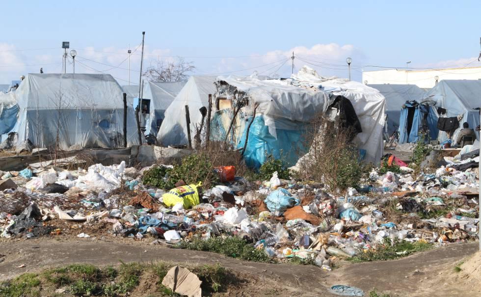 El asentamiento de jornaleros africanos en San Ferdinando (Calabria).