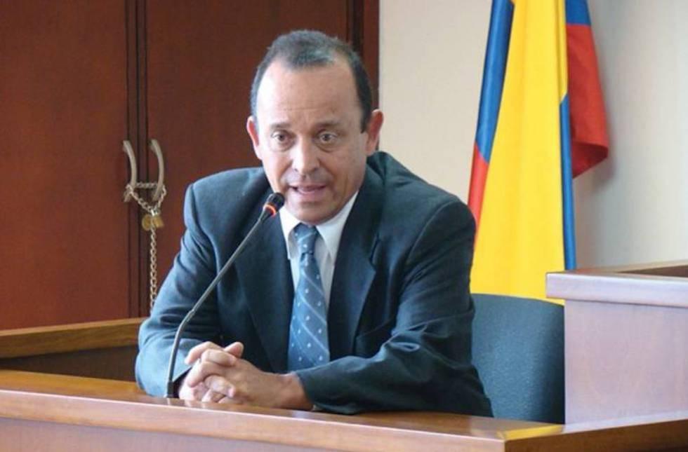 Santiago Uribe, hermano del expresidente, durante una declaración.