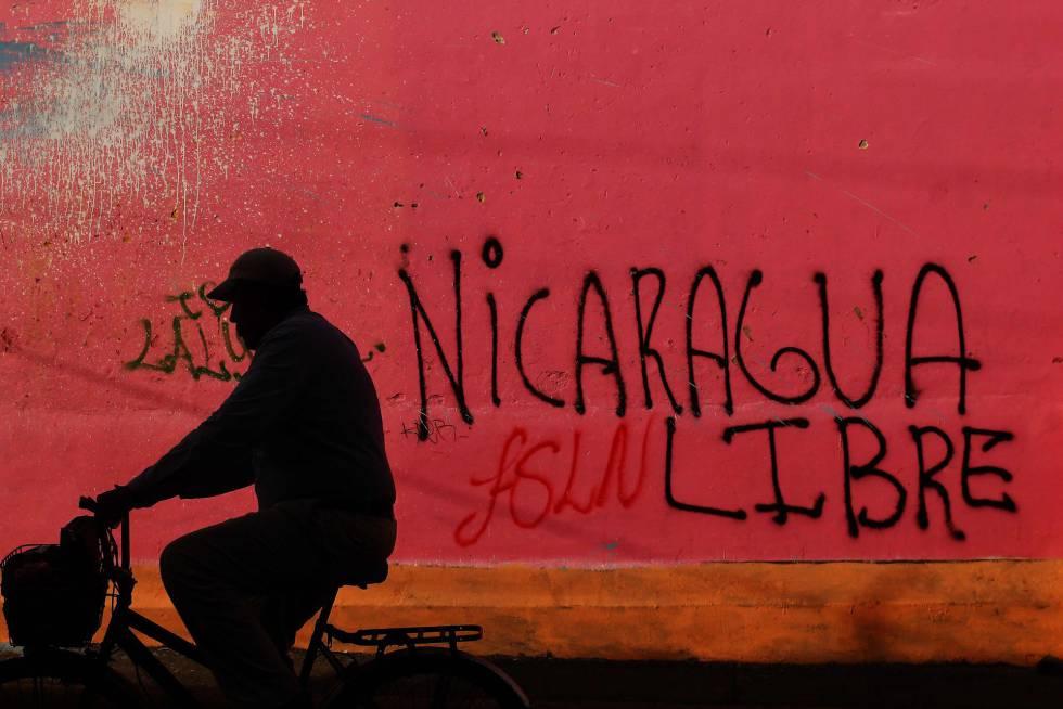 Sede del FSLN que fue ocupada por manifestantes en Diriamba, a 40 km de Managua, el 14 de junio.