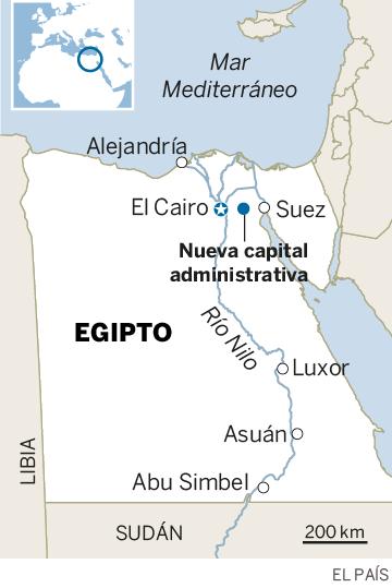 Egipto acelera la construcción de su nueva capital en medio del desierto