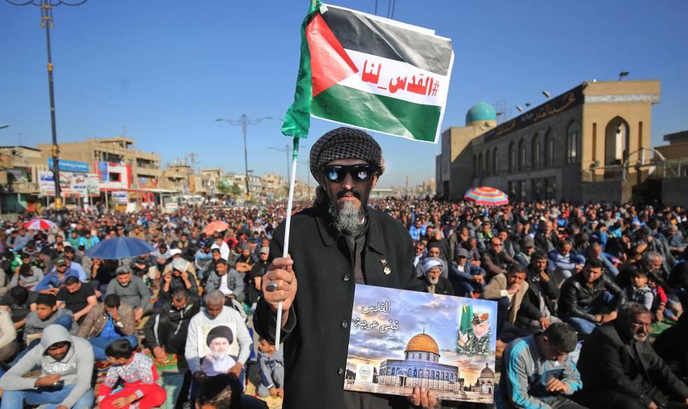 Partidarios de Muqtada Al Sáder en Bagdad, en 2017.