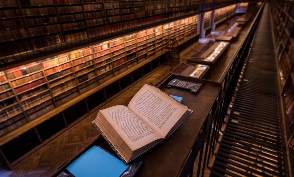Una biblioteca de París.