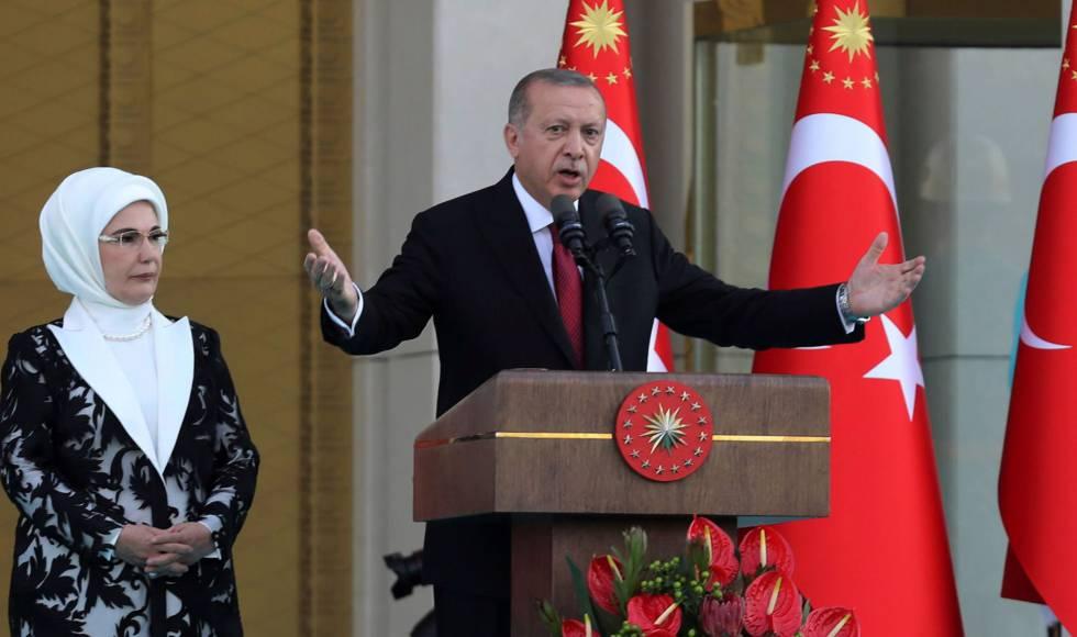 Erdogan durante el discurso