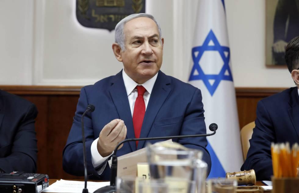 El primer ministro israel, Benjamín Netanyahu, el domingo en Jerusalén.