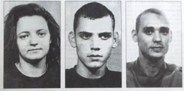 Beate Zschäpe, Uwe Böhnhardt y Uwe Mundlos, miembros de la banda neonazi NSU.