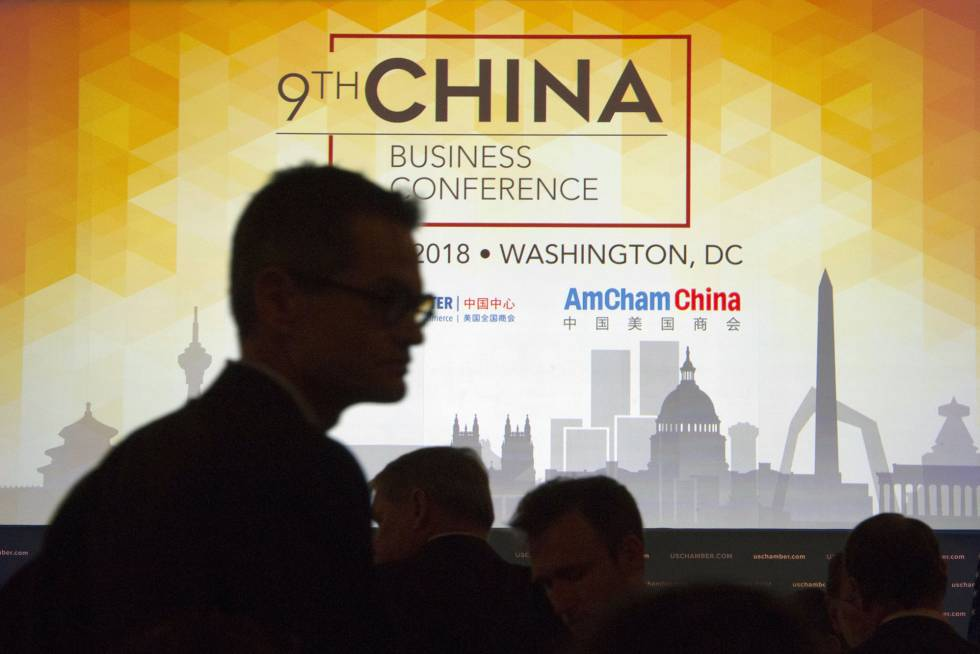 Conferencia sobre negocios con China en  Washington el pasado mayo, donde participó el representante de EE UU para comercio, Robert Lighthizer.