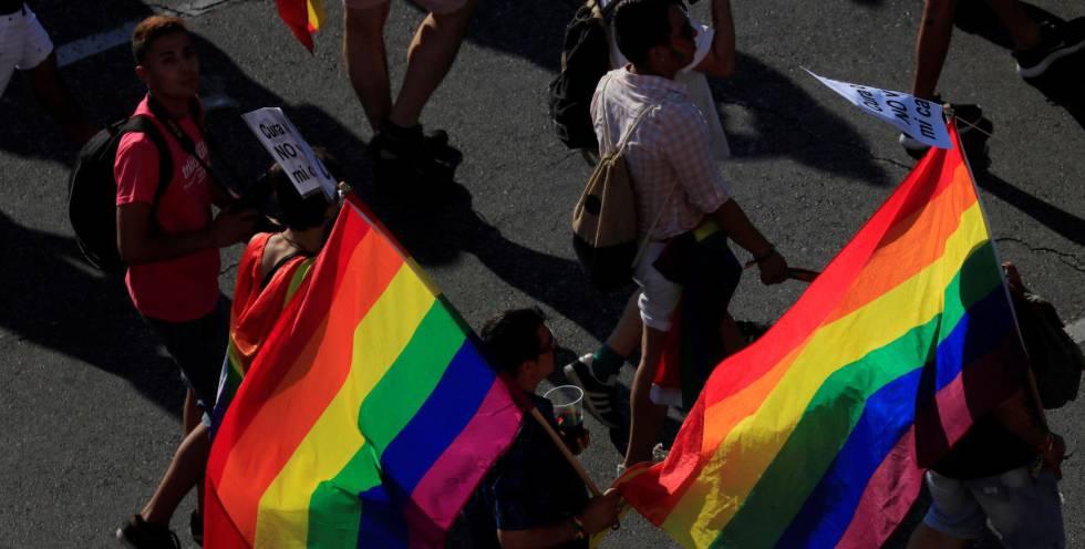 La manifestación del Orgullo Gay en Madrid.