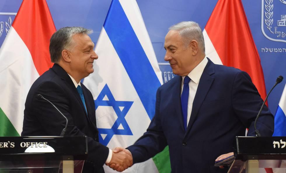 Viktor Orbán y Benjamín Netanyahu, este jueves en Jerusalén.