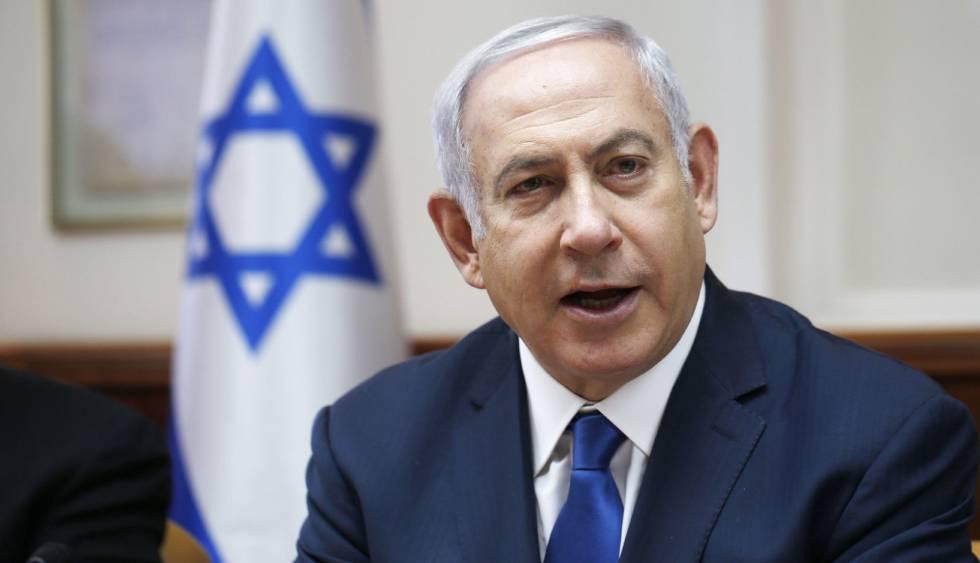 El primer ministro de Israel, Benjamín Netanyahu, este domingo en Jerusalén.