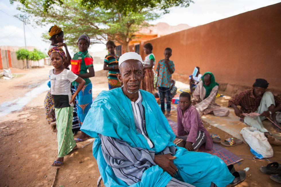 Amadou, desplazado del conflicto del centro de Mali, miembro de la etnia peul.