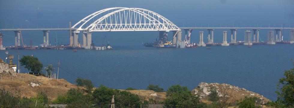 El puente de Kerch, en junio de 2018.